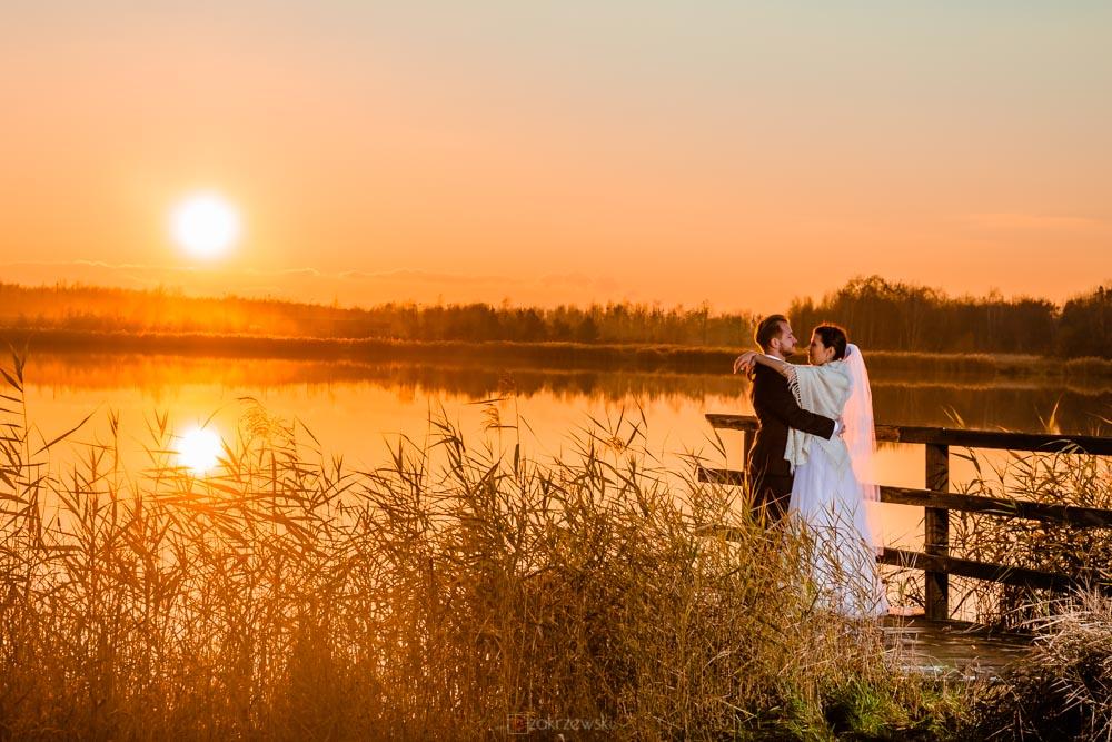 listopadowy plener ślubny