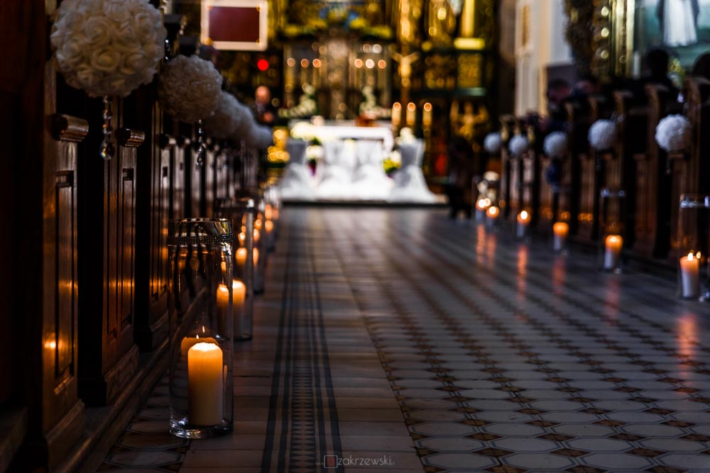 slubna dekoracja kościoła