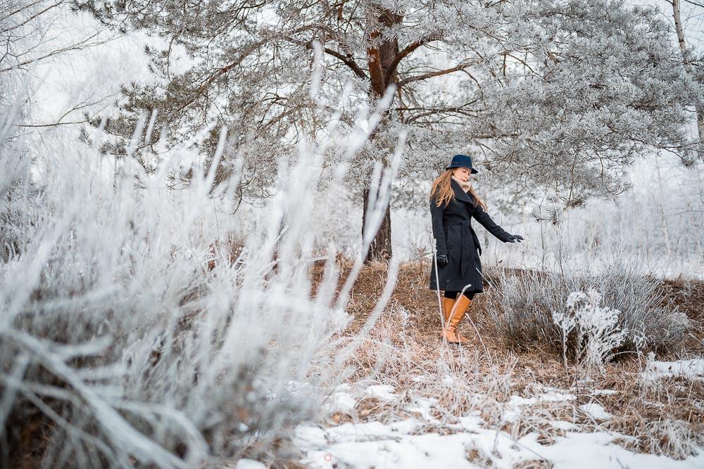 Mroźna sesja w zimę