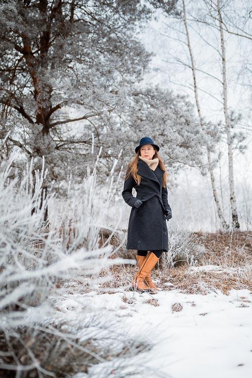 Stylowa sesja zimowa