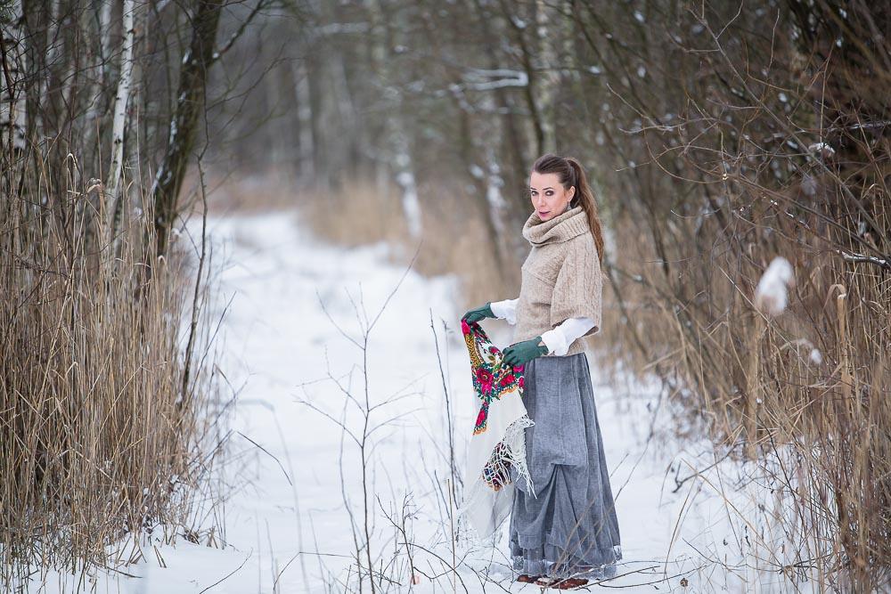Sesja fotograficzna, zima,