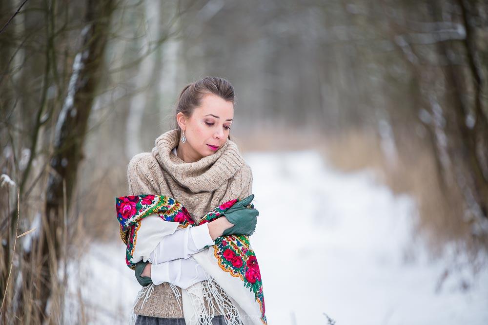 zima, śnieg, kobieca, fotograf Tarnobrzeg