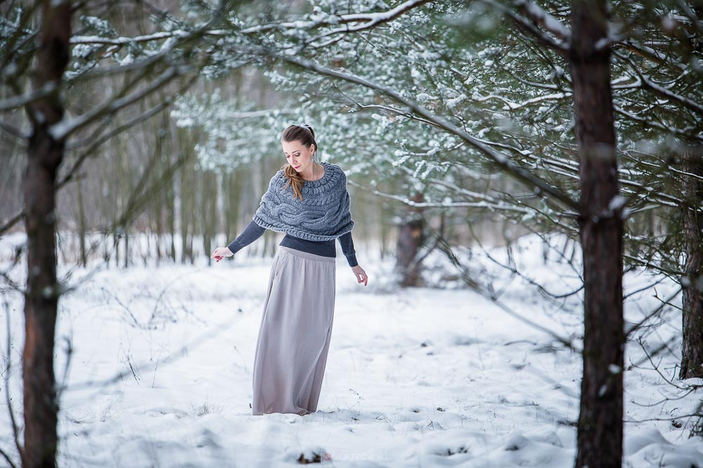 Sesja zimową porą