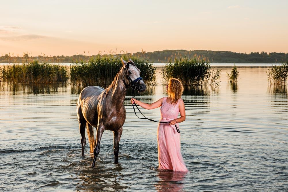 Koń, jezioro, Tarnobrzeg, sesja