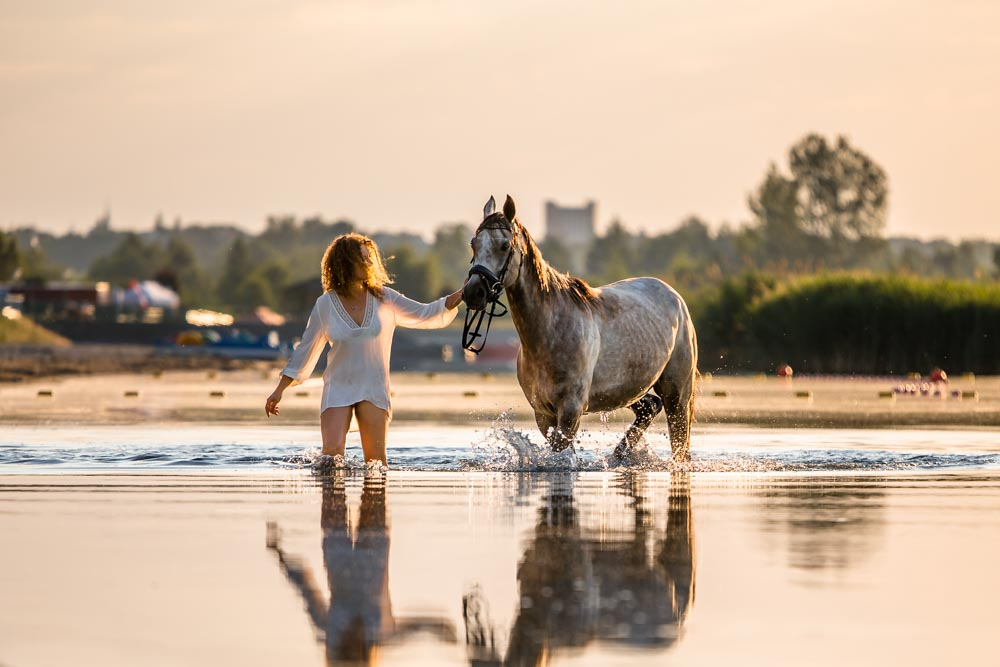 sesja, Koń, jezioro, Tarnobrzeg,